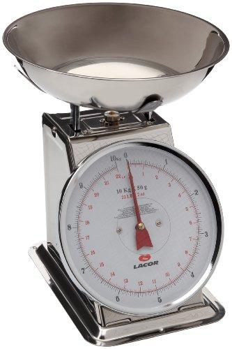Lacor 61710 Balance Mécanique avec Plateau en Inox 10 Kg