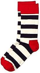 Happy Socks Men's Calf Socks (8904214910242_SA01-045_Large_Red)