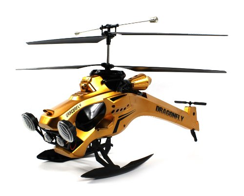 Thunder Dragonfly Electric Rc Helicopter Gyro Gyroscope 3.5Ch Channel Quad Led Head Lights Rtf Ready To Fly (Colors May Vary)