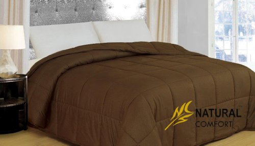 Natural Comfort New in Color Down Alternative Comforter, Queen, French Roast