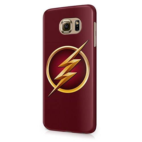 The Flash Logo Justice League Superhero Comics Hard Snap-On Protective Case Cover For Samsung Galaxy S6 (Not Edge)