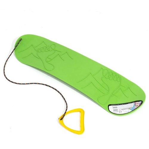 Planche-a-neige-Snowboard-vert-demi-rond-plastique-ideal-pour-lhiver-L-68-cm