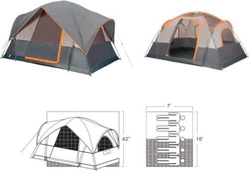 Gigatent FT 027 Mt. Adams 10 x 7 Family tent- sleeps 5