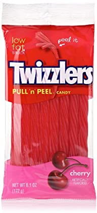TWIZZLERS PULL 'N' PEEL Cherry Candy…