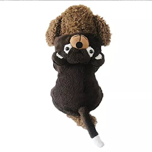 Dogloveit Halloween Bear Costumes Soft Dog Clothes For Dog Cat Puppy Pet, Brown, X-large (Dog Bear Costume)