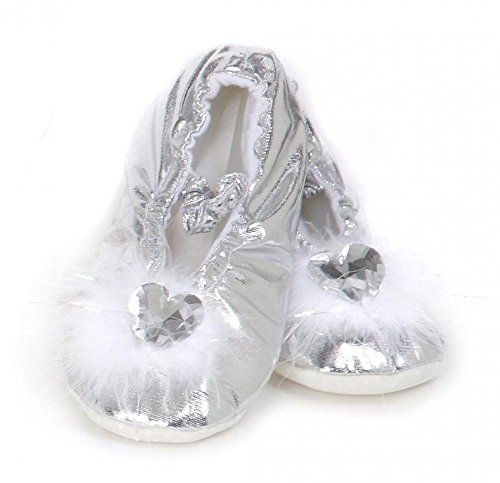 Creative Education's Silver Princess Slippers Size Large