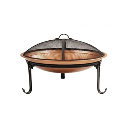 Camelot Steel Copper Coloured Cauldron Fire Pit from Camelot