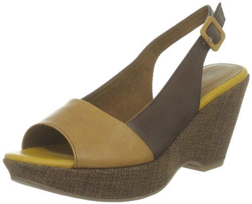 Tamaris Tamaris Sandals Womens Brown Braun (CAFE/LEMON) Size: 5 (38 EU)