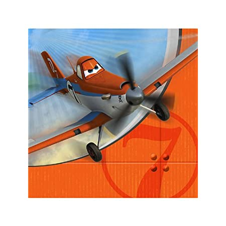 "Disney Planes Party Lunch Napkins. One package of 16 Disney Planes Party 13"" Lunch Napkins."