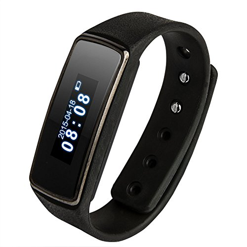 "Soyan V5 Fitness 0.91"" OLED Bluetooth Smartwatch Smart Bracelet Health Watch Wristband Wrist Wrap Sports Pedometer with Sports&Sleep Tracking For Android 4.3 or Above(Black)"