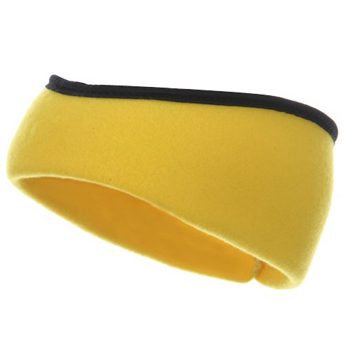 Earband With Binding - Yellow W12S28C