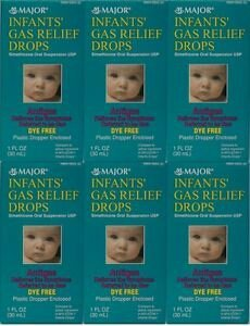 MAJOR INFANTS GAS RELIEF DROPS DYE-FREE SIMETHICONE ORAL SUSPENSION 30ML EACH (PACK OF 6) (Infant Gas Relief Drops compare prices)
