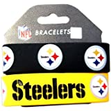 Pittsburgh Steelers Rubber Wrist Band Set Of 2 NFL [Misc.]