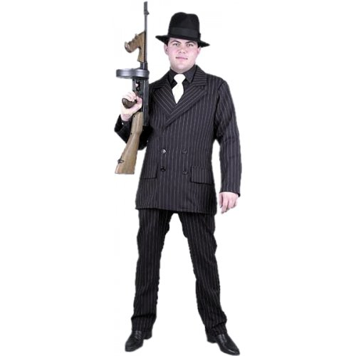[Gangster Man Suit Plus Size Costume] (Gangster Man Zoot Suit Adult Costumes)