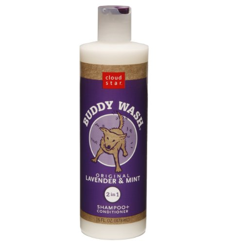 Cloud Star Buddy Wash Dog Shampoo + Conditioner - Lavender and Mint, 16-Ounce Bottles (Pack of 2)