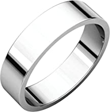 5mm Flat Band in 14k White Gold - Size 14