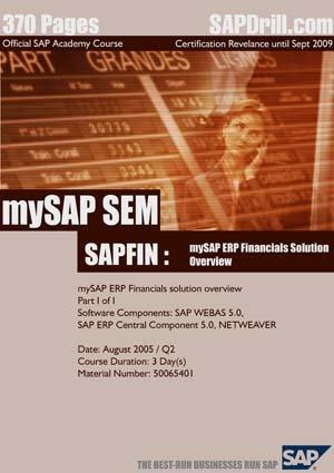 SAP SEM: Strategic Enterprise Management Official Certification Course