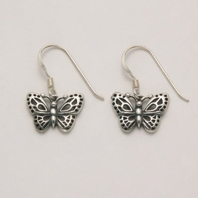 Small Butterfly Hook Earrings