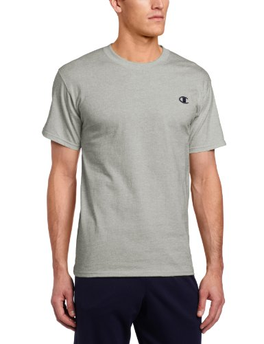 Champion Men's Jersey T-Shirt, Oxford Gray, Medium