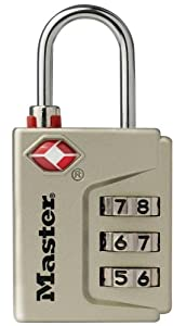 Master Lock 4687DNKL Instant Alert TSA Accepted Luggage Lock