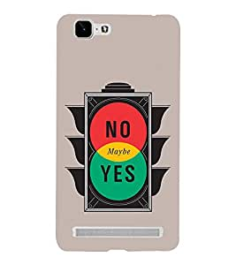 No Maybe Yes 3D Hard Polycarbonate Designer Back Case Cover for VIVO X5 MAX