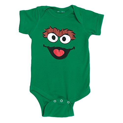 Sesame Street Oscar the Grouch Face Baby Romper Snapsuit
