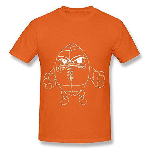 100% Cotton Humorous Football Funny Face Tees For Men - Round Neck front-439284