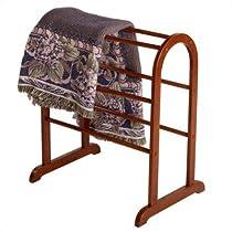 Winsome Quilt Antique Walnut Closet Organizer Rack