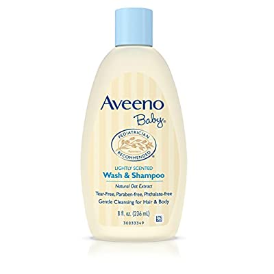Aveeno Baby Wash & Shampoo, Lightly Scented, 8 Ounce