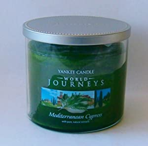 Mediterranean Cypress 2 Wick 12.5 Oz Tumbler Medium Jar Yankee Candle