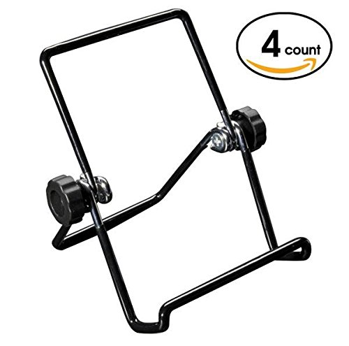 Easall | 4pcs Multi Purpose Small Portable Easel Stand Display, Heavy Duty Vinyl Coated Wire, Nonslip Nonscratch, Selectable Viewing Angles, Book Picture iPad Smartphone Kindle Art Collection Stand (Tabletop Easel Blick compare prices)
