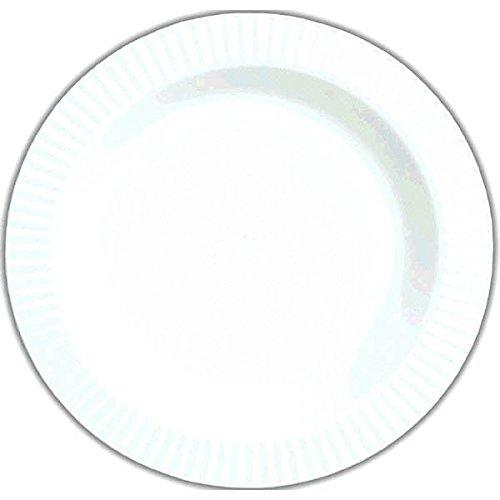 """Amscan Round Premium Plastic Plates, 7 1/2"""", White"""