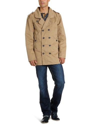 Jack & Jones Premium Men's 12058695 Michael Trenchcoat Trenchcoat Beige (Elmwood) 50