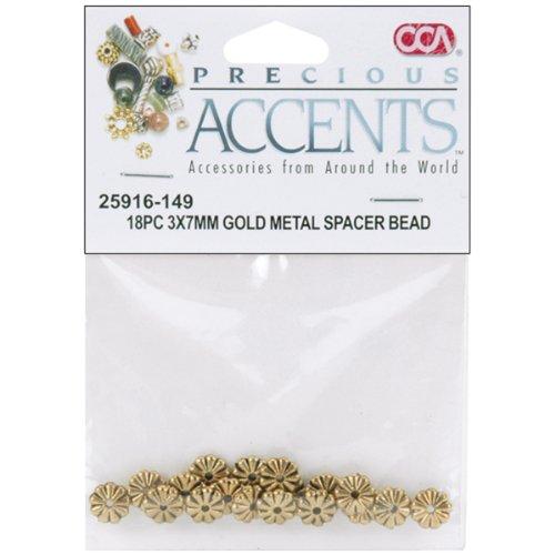 preziosi-accenti-metallo-placcato-oro-18-pkg-di-perle-perline-risultati-3x7mm-distanziatore