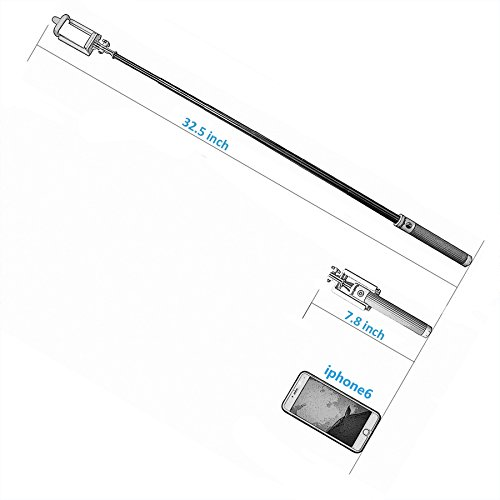 cozypony pocket size portable selfie stick extendable foldable self portrait handheld monopod. Black Bedroom Furniture Sets. Home Design Ideas