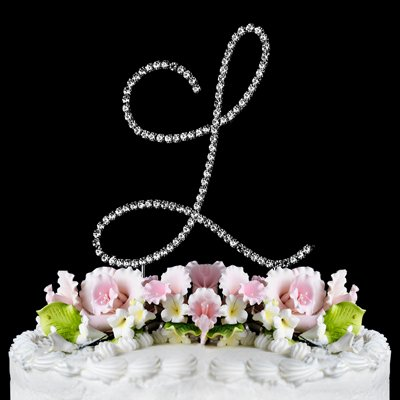 Renaissance Monogram Wedding Cake Topper Large Letter L front-1068963