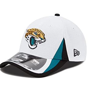 Jacksonville Jaguars New Era 39THIRTY 2013 Official Training Flex Hat - White by New Era