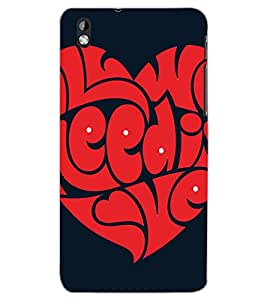 HTC DESIRE 816 HEART Back Cover by PRINTSWAG