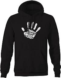 Jeep Wave Handprint Grill Wrangler Club Pullover Sweatshirt - 3XL