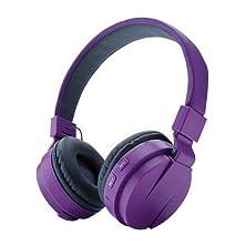 buy Vovotrade Wireless Bluetooth Foldable Headset Stereo Headphone Earphone For Iphone (Purple)