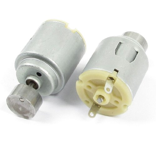 uxcell 2 Pin Terminals DC 6V 20000RPM Vibration Motor 20x41mm 2 Pcs