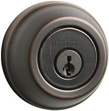 Kwikset 780 Single Cylinder Deadbolt featuring SmartKey® in Venetian Bronze