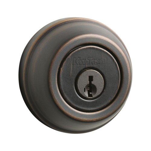 Kwikset 780 Single Cylinder Deadbolt Featuring Smartkey® In Venetian Bronze front-144463