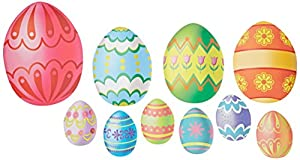Easter Egg Cutouts Party Accessory (1 count) (10/Pkg)