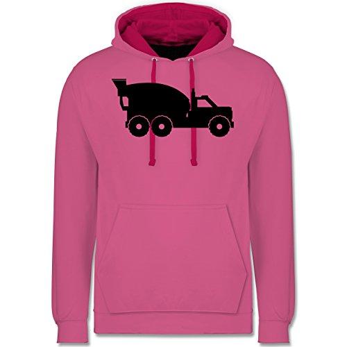 andere-fahrzeuge-betonmischer-xxl-rosa-fuchsia-jh003-unisex-damen-herren-kontrast-hoodie