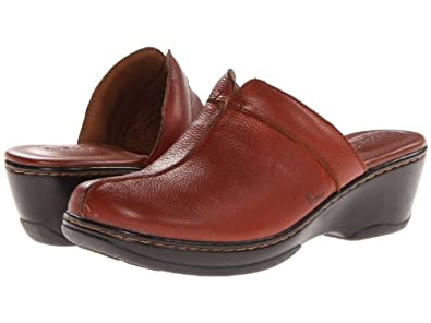 Boc Knowles Red/brown Leather Clog Women Size 6 M