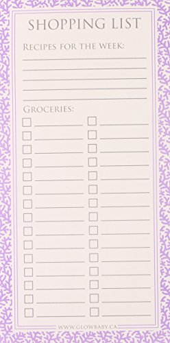 Glow Baby Shopping List Pad, Purple