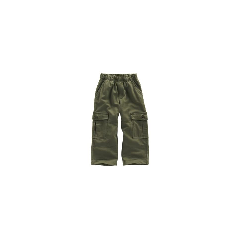 Tea Collection Baby Solid French Terry Pants, Herb