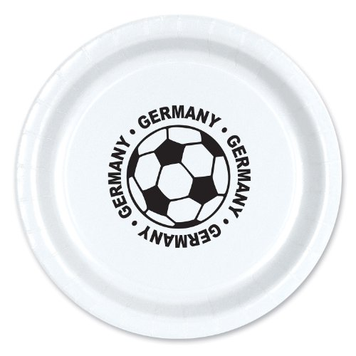 Beistle 58006-GER 8-Pack Plates, 9-Inch, Germany