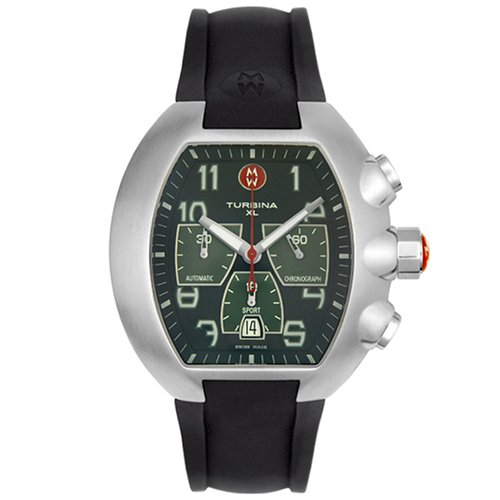 michele mens mww10b000005 turbina xl sport chronograph